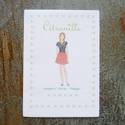 citronille sewing pattern pelagie adult skirt
