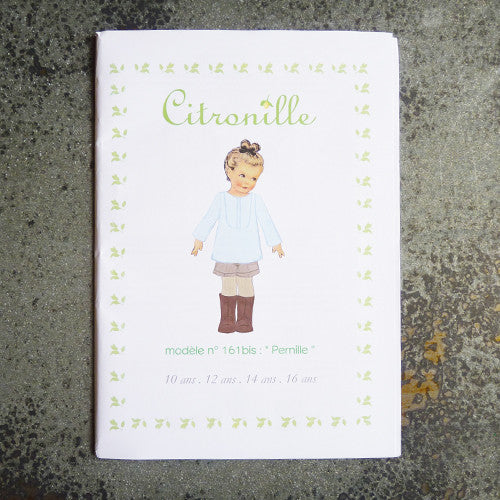 citronille sewing pattern pernille teen top