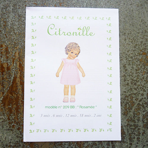 citronille sewing pattern rosamee baby dress