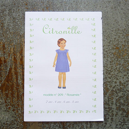 citronille sewing pattern rosamee child dress
