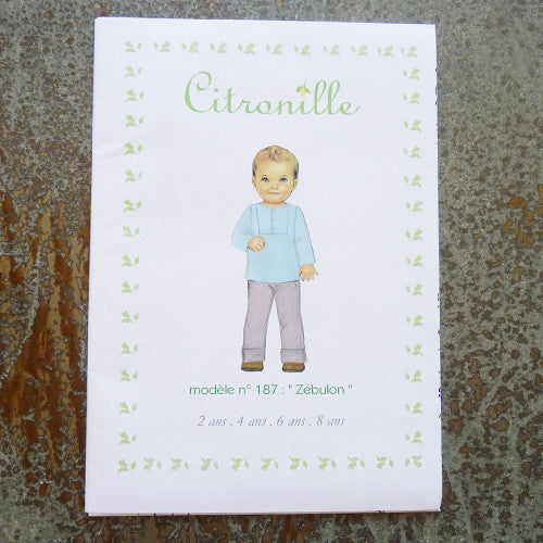 citronille sewing pattern zebulon child top