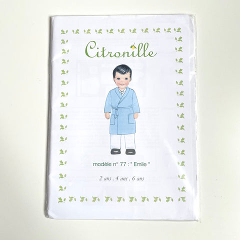 Citronille Patterns : Emile Younger Child's Robe