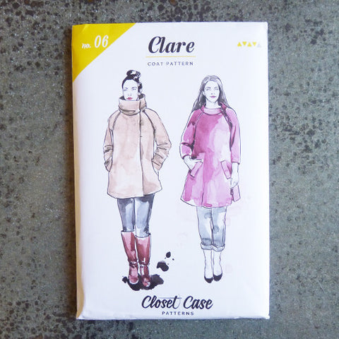closet case clare coat sewing pattern