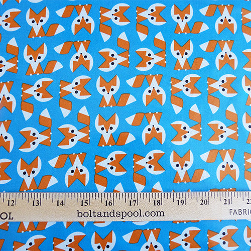 cloud 9 organic fabric cotton laminate fox