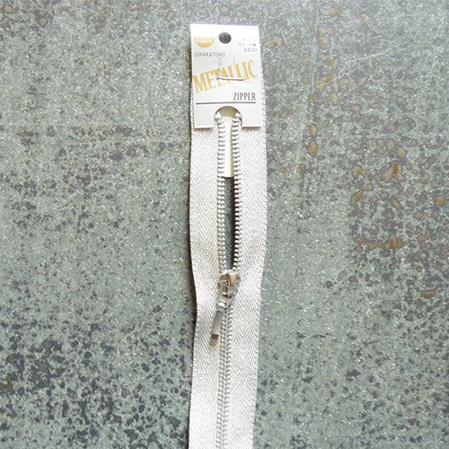 "Coats Metallic Zipper - 9"" Aluminum"