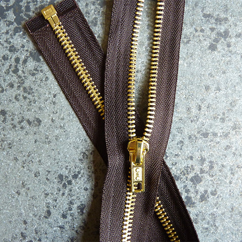 coats and clark separating zipper brown