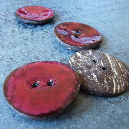 coconut resin button