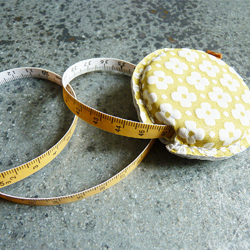 Yuzun Leather Tape Measure - Yellow metric