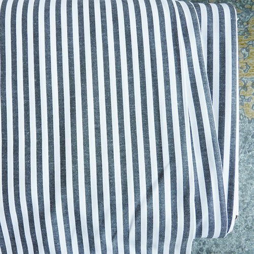 Cotton Stripe Shirting - Black