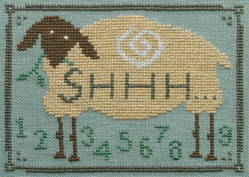 Counted Cross Stitch Pattern: Shhh...Counting Sheep