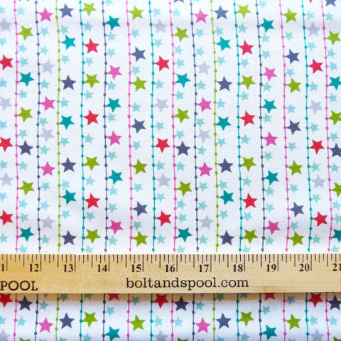 dashwood studio cotton fabric christmas dreams star garland