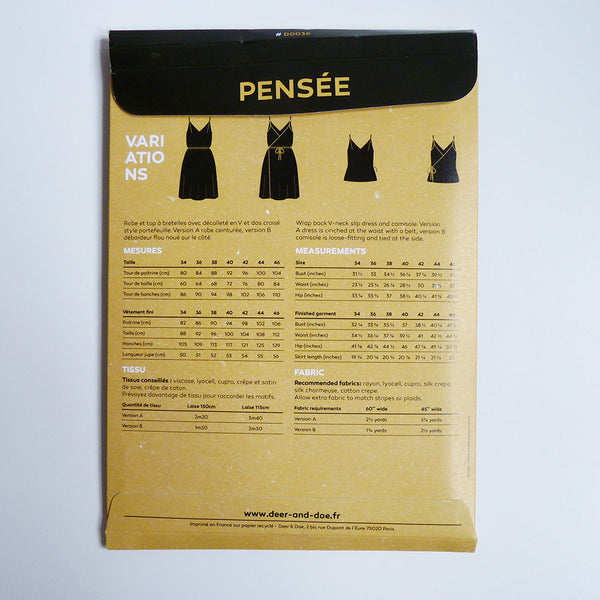 Deer & Doe Patterns : Pensee Dress