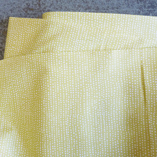 dear stella quilting cotton stripe polka dots yellow green