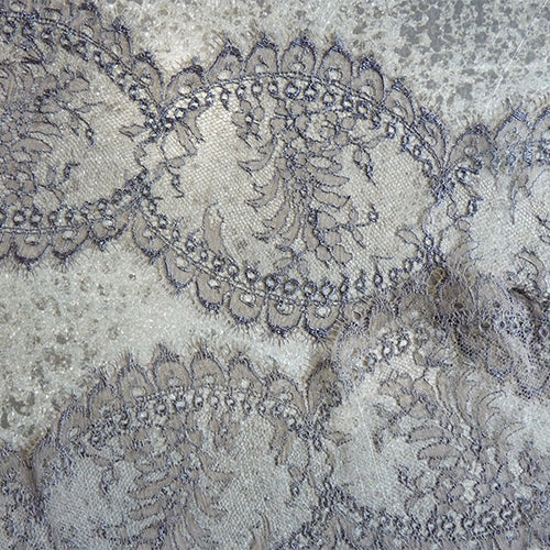 dentelles mery french leavers lace gray