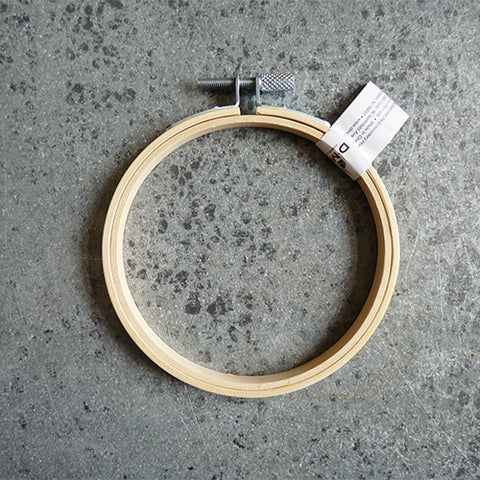 4 inch dmc wood bamboo embroidery hoop