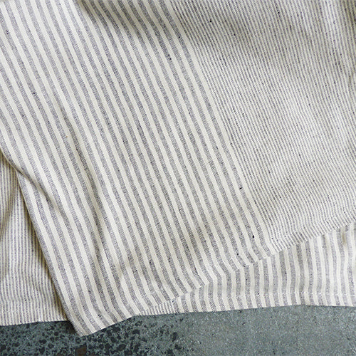 dunroven house cotton linen stripe tea towel