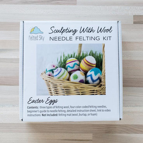 Felted Sky Needle Felting Kit: Easter Eggs