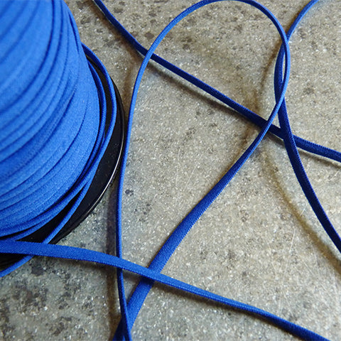 Banded Elastic 4mm - Blue