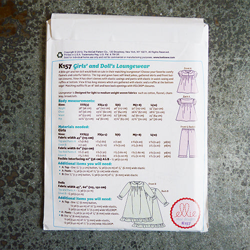 Ellie Mae Designs : Everyone's Dolled Up Pajamas doll child girl pajama sewing pattern