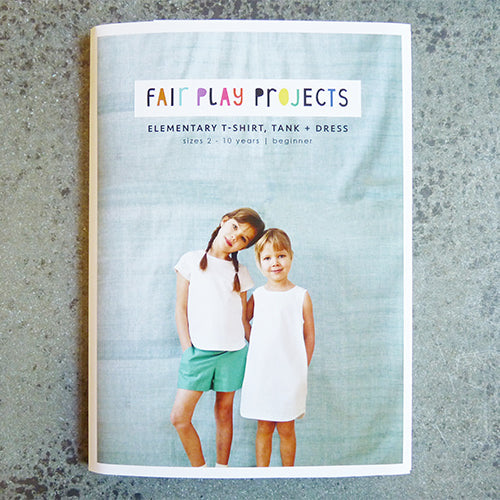 fair play projects elementary tank t shirt and dress sewing pattern