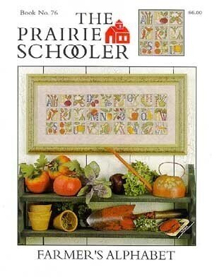 Counted Cross Stitch Pattern: Farmer's Alphabet