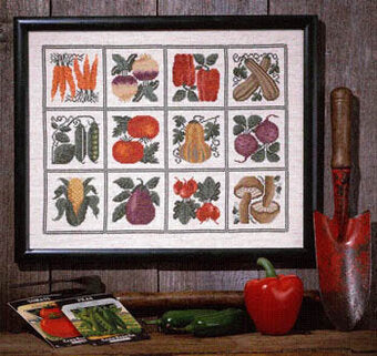 Counted Cross Stitch Pattern: Farmer's Market