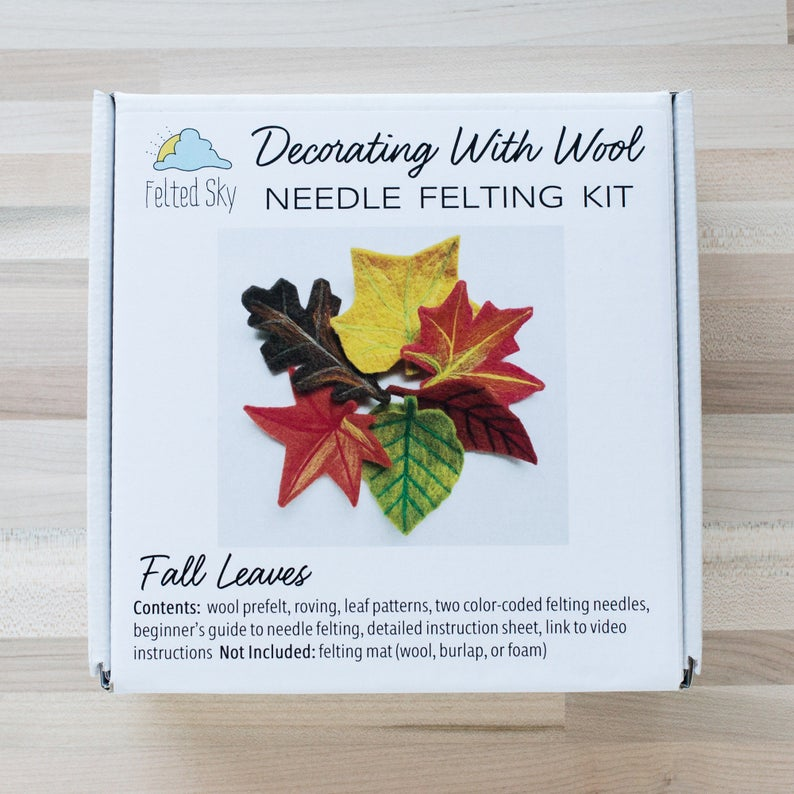 Felted Sky Needle Felting Kit: Fall Leaves Thumbnail