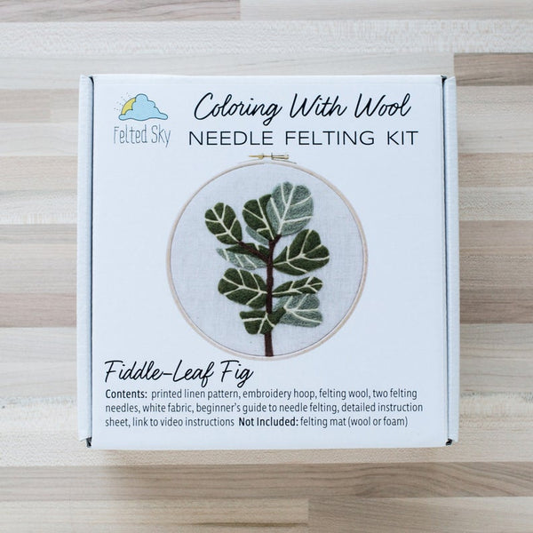 Felted Sky Studio Fiddle-leaf Fig Needle Felting Kit