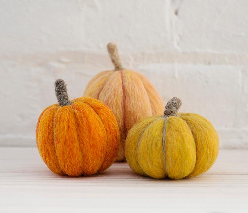 Felted Sky Needle Felting Kit: Pumpkins Thumbnail