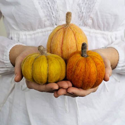 OCT 19 or 23: Pumpkin Needle Felting Workshop