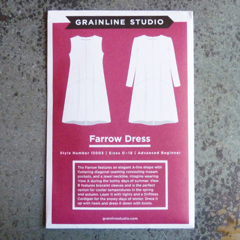 grainline studio farrow dress sewing pattern