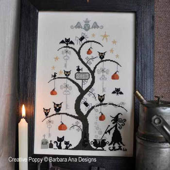 Counted Cross Stitch Pattern: O Halloween Tree