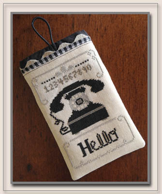 Counted Cross Stitch Pattern: Hello Phone Case
