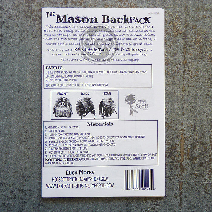 Hot Scott Patterns : The Mason Backpack Thumbnail