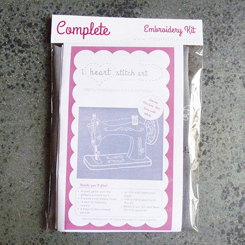 i heart stitch art embroidery kit sewing machine