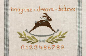 Counted Cross-Stitch Pattern: imagine + dream + believe