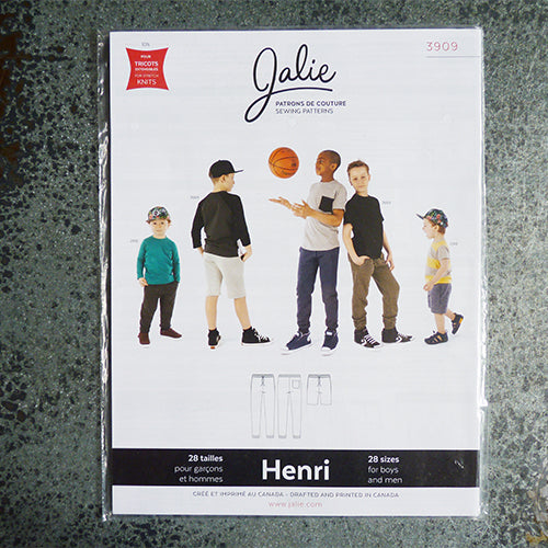 Jalie Sewing Patterns : Henri Joggers & Shorts boy men
