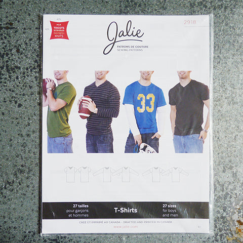 Jalie Sewing Patterns : T-Shirts men boy sewing pattern