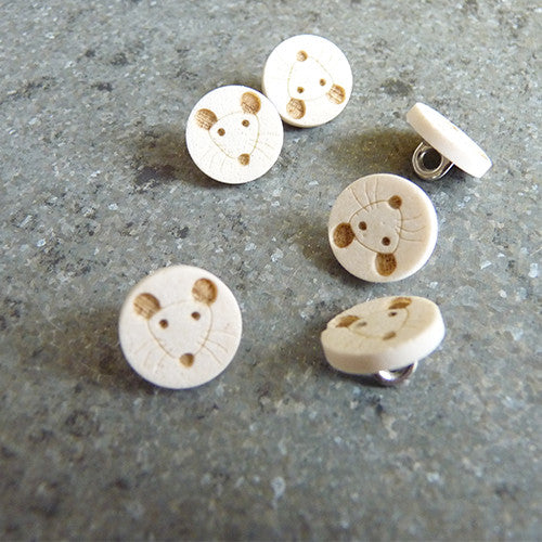 lasercut plastic button mouse