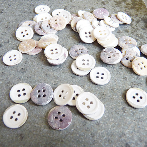 4 hole shell shirting button white