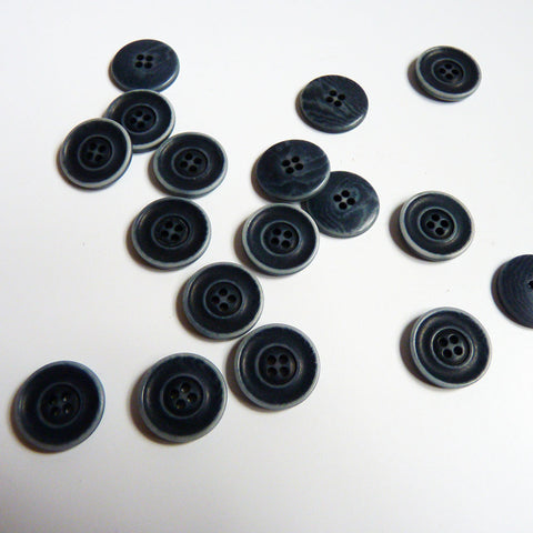 Corozo Button - Stone-Washed Denim Blue