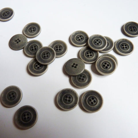 Corozo Button - Stone-Washed Gray-Brown