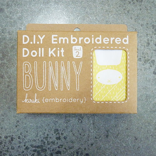 kiriki press embroider stuffed bunny rabbit doll kit
