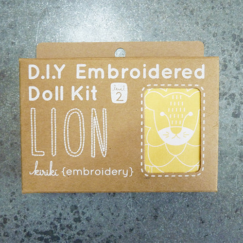 Kiriki Press Embroidered Doll Kit - Lion Thumbnail
