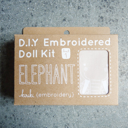 Kiriki Press Embroidered Doll Kit - Elephant Thumbnail