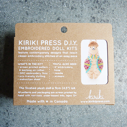 Kiriki Press Embroidered Doll Kit - Llama Thumbnail