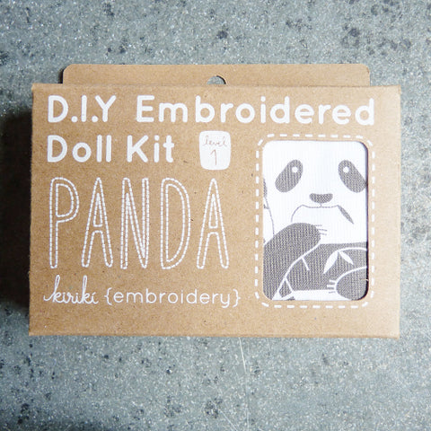 kiriki press embroider stuffed panda doll kit