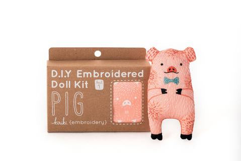kiriki press pig doll embroidery kit