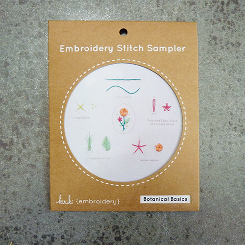 Kiriki Press Embroidery Stitch Sampler - Botanical Basics