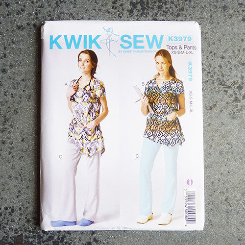 Kwik Sew Scrubs Tops Pants